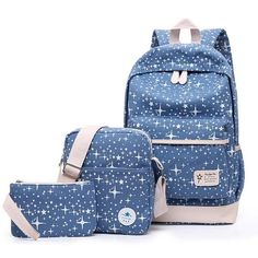 b05d208fc9 2017 Fashion Star Women Canvas Backpack Schoolbags School For Girl  Teenagers Casual Travel Bags Rucksack Cute Printing Children