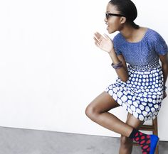 Pattern Play with Indego Africa for Madewell bangles