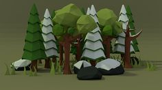 Low Poly Forest on Behance