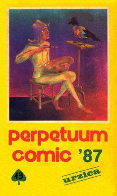 Coperta almanahului PERPETUUM COMIC '97 editat de URZICA, revista de satira si umor din Romania