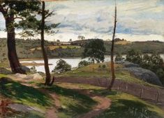 fanny churberg: landscape in august (elokuun maisema parikkalasta) Cool Landscapes, Landscape Paintings, National Gallery, 3 Arts, Helsinki, Canvas, Artists, Exhibitions, Oil