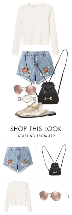"""""""Untitled #21511"""" by florencia95 ❤ liked on Polyvore featuring House of Holland, Gucci, Monki, Ray-Ban and Burberry"""