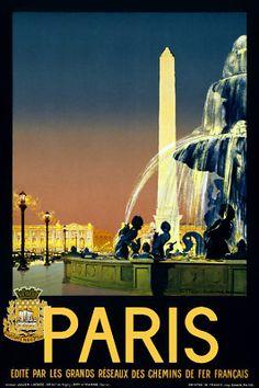 Vintage French Poster Paris Modern Room Art Decor Interior Design 762 | eBay