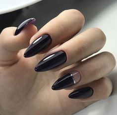 The advantage of the gel is that it allows you to enjoy your French manicure for a long time. There are four different ways to make a French manicure on gel nails. Black Nail Designs, Acrylic Nail Designs, Nail Art Designs, Acrylic Nails, Nails Design, Trendy Nails 2019, Hair And Nails, My Nails, Winter Nails 2019