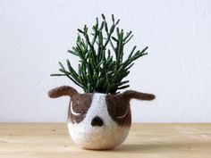 Hey, I found this really awesome Etsy listing at https://www.etsy.com/listing/227685800/felt-succulent-planter-dog-planter