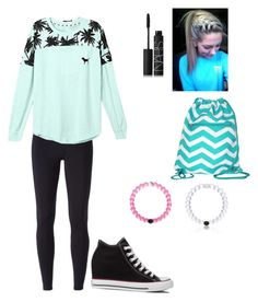"""""""Hanging with Best friend"""" by gymnastics7 ❤ liked on Polyvore featuring Converse, NIKE, Victoria's Secret, Everest and NARS Cosmetics"""