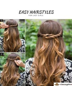 Easy hairstyles for the girls.