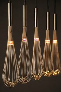 Upcycle Us: Turning whisks into kitchen lights