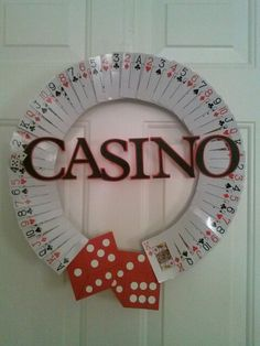 Casino card wreath