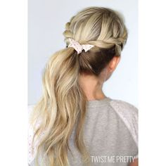Twisted Ponytail ❤ liked on Polyvore featuring accessories, hair accessories, hair, cabelos, hairstyles and hair styles