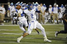 15 November 2014:  Middle Tennessee quarterback Austin Grammer (2) passes in the second half as the FIU Golden Panthers defeated the Middle Tennessee Blue Raiders, 38-28, at FIU Stadium in Miami, Florida.
