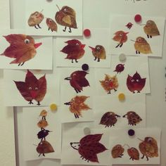 Fall craft for kids Leaf Crafts, Diy And Crafts, Arts And Crafts, Autumn Crafts, Nature Crafts, Diy For Kids, Crafts For Kids, Leaf Animals, Autumn Activities For Kids