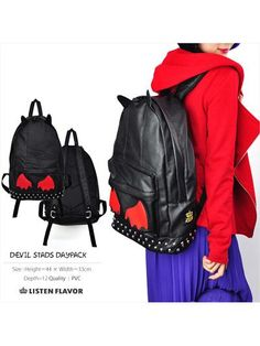 Devil's Ears & Wing Daypack / See more at http://www.cdjapan.co.jp/apparel/new_arrival.html?brand=LIS #harajuku