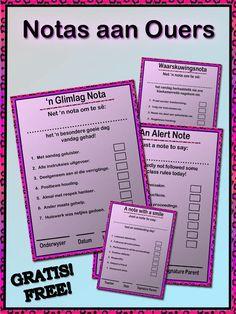 Lig ouers in oor gedrag in die klas vandag. Hierdie is 'n Word dokument. Bullet Journal, Teacher, Afrikaans, Report Cards, Professor, Teachers