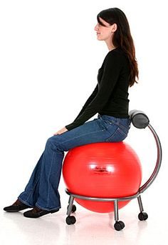 exercise ball chair- I would love to have these as an option! Kendra Bradley (Procurement, TFA)