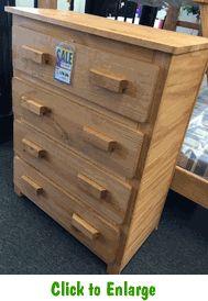 Oak Finish 4 Drawer Chest At Furniture Warehouse | The $399 Sofa Store |  Nashville,