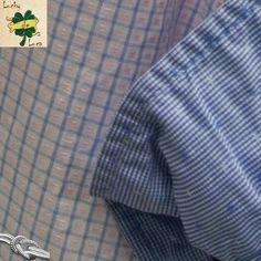 Camisa Cuadros Azul y Rosa detalle del puño