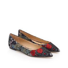 Rae Pointed-Toe Flat  by Sam Edelman - Grey Multi Floral - View 1