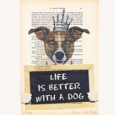 Hund Zitat von Coco De Paris auf DaWanda.com