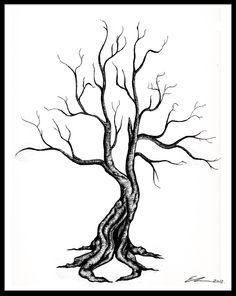 Dead Tree Tattoo by ellestril