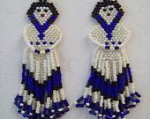 Native American Beaded Vintage Indian Doll in Seed Beads Ready to Ship GREAT GIFT