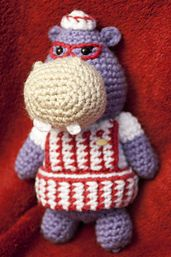 "Crochet Toys Design Crochet Pattern for Hallie from Doc McStuffins - Great gift for kids! Pattern on Ravelry. - Hallie is a sassy purple hippopotamus with a Texas accent. She is Doc's nurse in the toy clinic, able to help out Doc with her ""Hippo Hunches. Crochet Hippo, Crochet Baby Hats, Crochet Gifts, Cute Crochet, Crochet Animals, Crochet Dolls, Amigurumi Patterns, Hippo Crafts, Ganchillo"