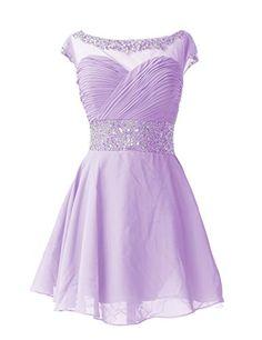 Dresstells Knee Length Prom Dress for Girls Short Homecoming Dress Lavender Size 2 Dresstells