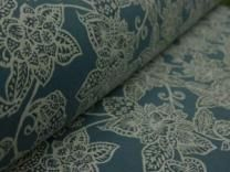 Cotton Curtain Fabric Sakura Teal