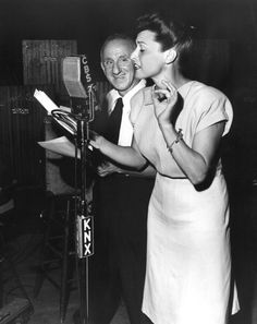 Cass Daly And Jimmy Durante Broadcast A Radio Show From The Hollywood Canteen