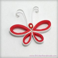 Mărțișor quilling fluture bucle Quilling, Spaces, Activities, Bedspreads, Quilting, Quilling Art