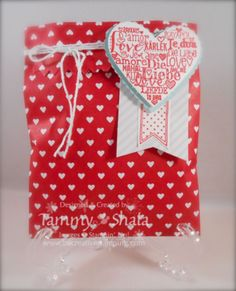 Stampin' Up! Sweetheart Treat Bags, Language of Love Stamp Set