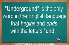 TESOL ESL [ English Facts ] The Underground.