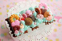 Nintendo 3DS Decoden Case Mint Sweets Bakery Themed Kawaii Sweet Lolita Gamer Chocolate Ice Cream Delightful Deco on Etsy, $42.00