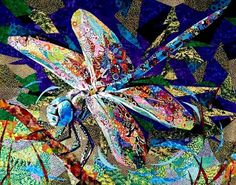 'Dragonfly' amazing art quilt by Danny Amazonas https://www.facebook.com/TheFoltBolt/photos/a.159915407382498.30295.127728550601184/1019605308080166/?type=1
