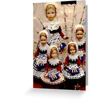 Brussels Dolls lacemakers, Greeting Cards, In stock