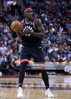Pascal Siakam of the Toronto Raptors dribbles the ball during the second half of an NBA game against the New York Knicks at Scotiabank Arena on November 10 2018 in Toronto Canada. Nba Basket, Nba Stars, Nba Playoffs, Wnba, Toronto Raptors, Nba Champions, New York Knicks, Toronto Canada, Basketball Players