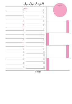 Filofax Insert A5 To Do by heartandwhimsy on Etsy