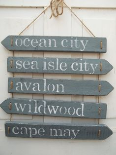Love the signs - can be made to read different shore points or beaches