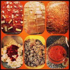 Homemade Lasagna. Beef, Turkey, sausage. Mozzarella provolone, bruschetta jack, cheddar, Parmesan, ricotta. Three layers. #feast #homemade #hechoconamorysabor #sofrito #recaito #fresh #herbs #spices #slowcooked