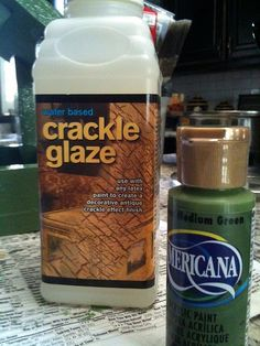 how to make a squirrel feeder.but this crackle glaze looks awesome! be cool on furniture to make it look oldish Squirrel Feeder, Bring It To Me, Crackle Painting, Fall Diy, T 4, Arts And Crafts, House Styles, Antiques, Glaze