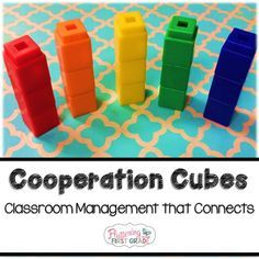 Classroom management that connects. Cooperation cubes give our class a visual reminder for classroom behavior.