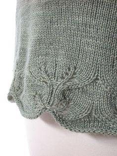DSCN8886 by angelant, via Flickr Bottom edge of sweater idea