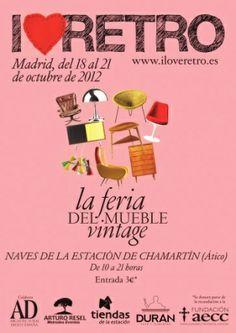 - Feria I Love Retro - The Retro Market by Arturo Resel Retro, Madrid, Marketing, My Love, Poster, Ideas, Vintage Furniture, Parking Lot, Tents