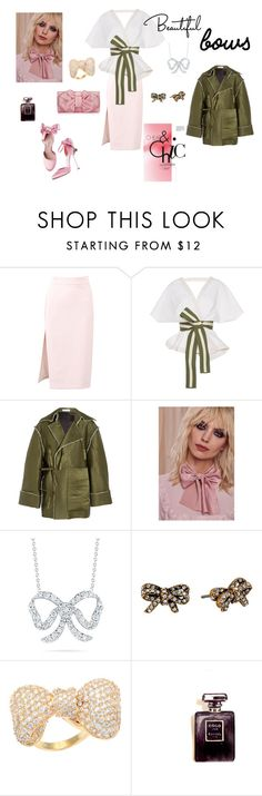 """""""Bowed Over"""" by kikikoji on Polyvore featuring MSGM, Johanna Ortiz, J.W. Anderson, Lena Bernard, Roberto Coin, Marc Jacobs, Kate Bissett and Chanel"""