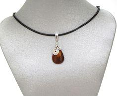 Natural Gemstone Iron Tiger's Eye Teardrop Pendant Necklace Healing Fengshui USA #Handmade #Pendant #Healing #Protection #GoodLuck #Semiprecious #Stone