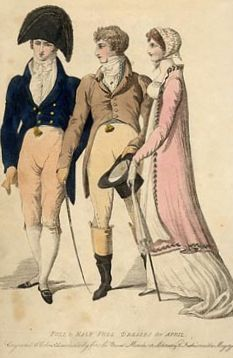 Guides to dress laid out the ways that dress differentiated exact shadings of class and degree.  http://www.blacktieguide.com/History/1800s_Victorian/1807_fullandhalfdress_chltenhammuseum_org_uk_edit.jpg