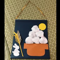 Diy For Kids, Crafts For Kids, Diy And Crafts, Arts And Crafts, Mid Autumn Festival, Japan Art, Preschool Crafts, Childcare, Astronomy