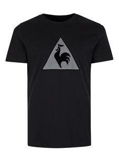 LE COQ SPORTIF Black Textured Print T-Shirt* - Men's T-Shirts & Vests - Clothing - TOPMAN