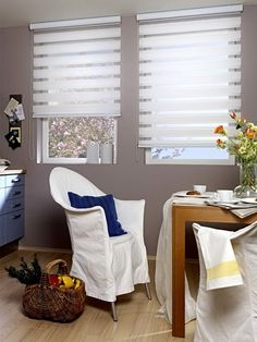 Made to Measure Day & Night Roller Blind in White