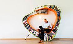 El sofá ideal para los lectores. Todo muy a mano